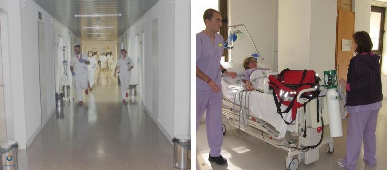personal del hospital durante el simulacro