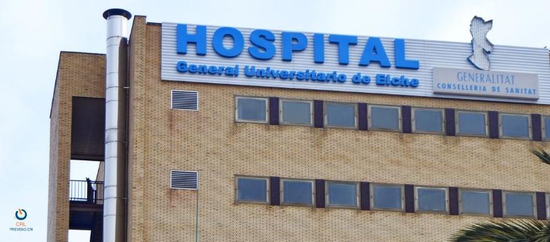 CRL prevención participa en un simulacro de incendio en la UCI del Hospital de Elche